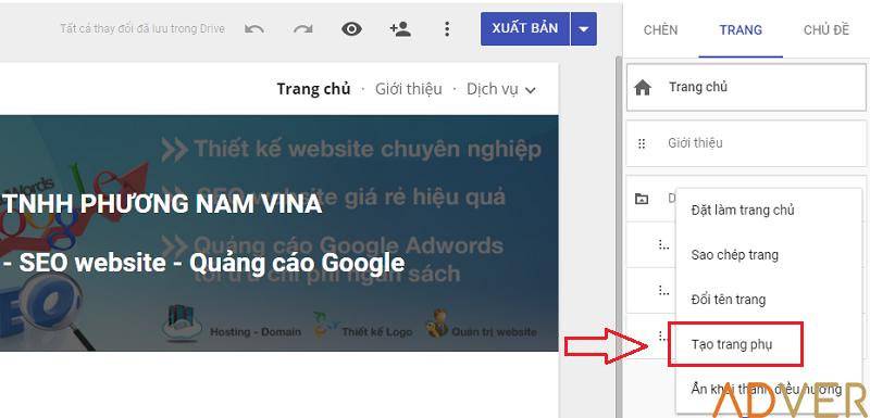 Cách tạo website miễn phí với Google Sites